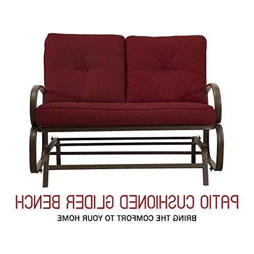 Homevibes Glider Glider Furniture Outside 2 Seats Cushions, Red