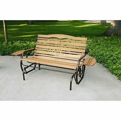 Jack Glider Outdoor Wood Bench Patio Chair Furniture