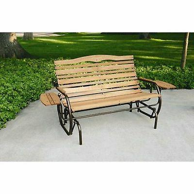 Jack Post Glider Wood Bench Patio Chair Seat Furniture