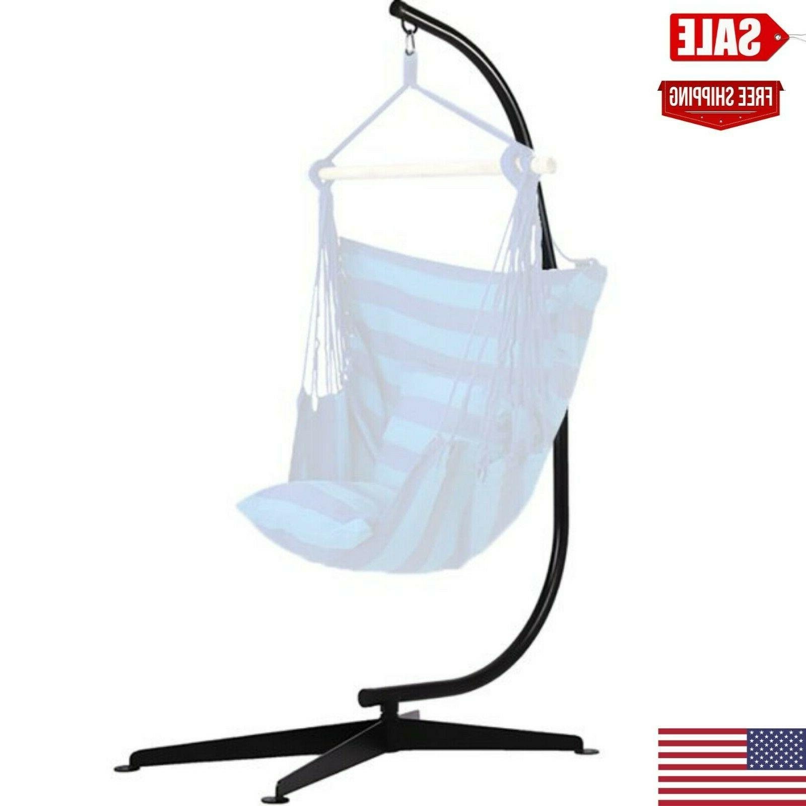 FDW Hammock Chair Stands Hanging Hammock Stands,C Stand Outd