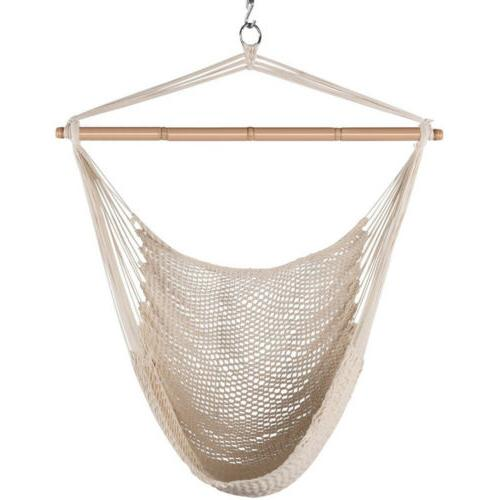 hammock chair swing hanging rope seat net