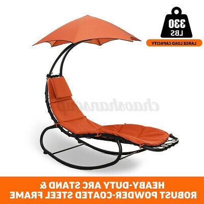 Hammock Chair with Stand Patio Sun Shade Canopy