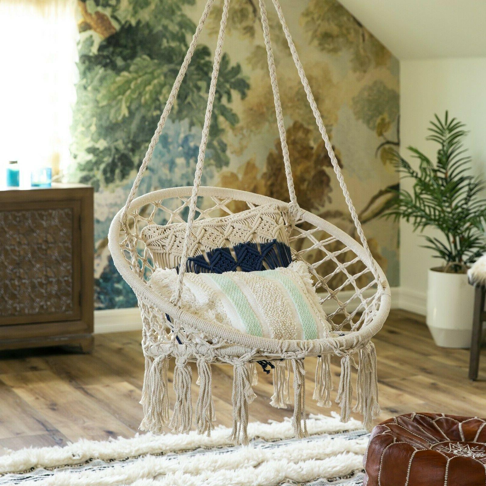 Hammock Handmade Chair Hanging Outdoor Best Tassel W