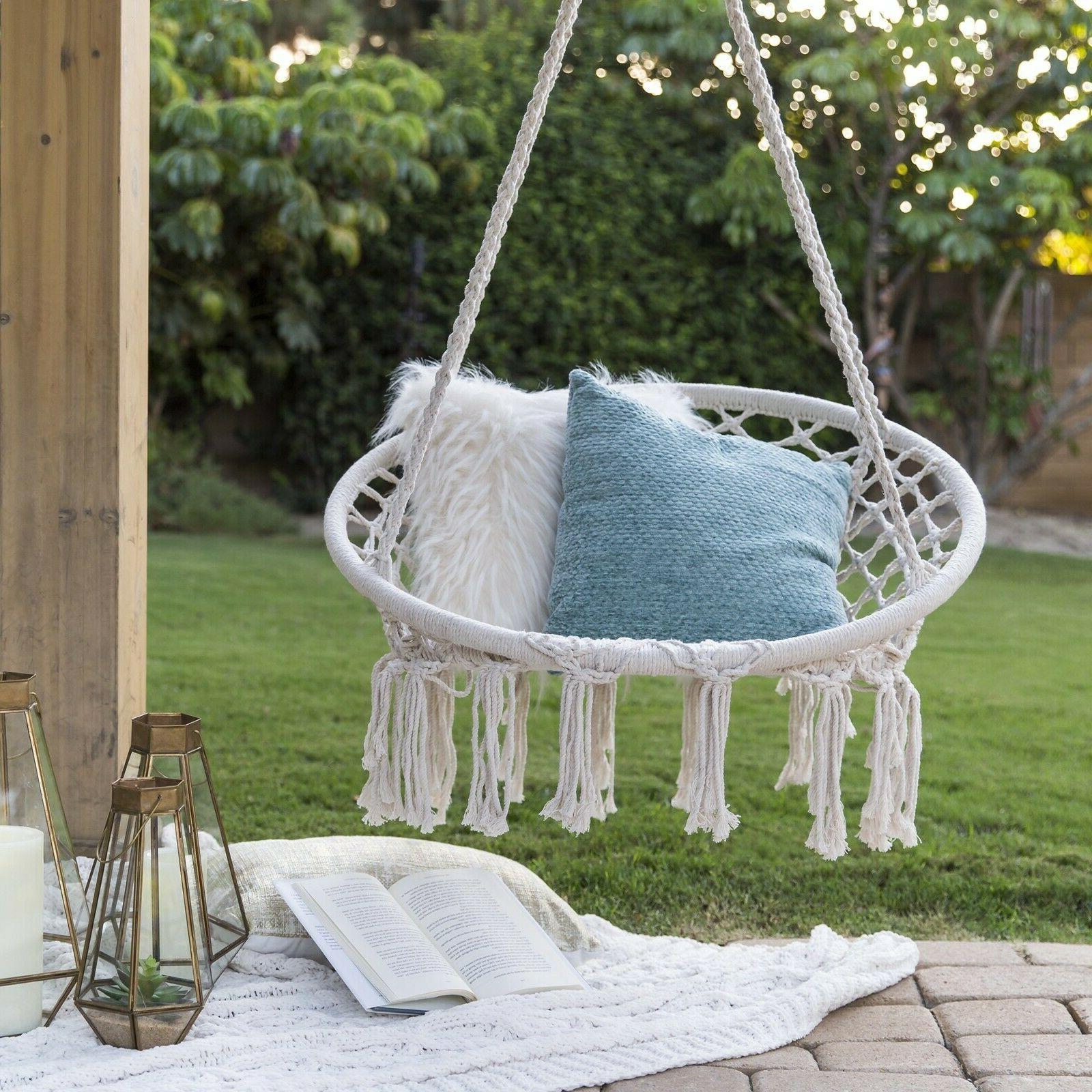hammock rope handmade chair hanging outdoor swing