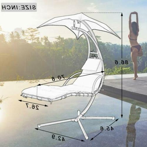 Hanging Chair Arc Stand Swing Hammock Red