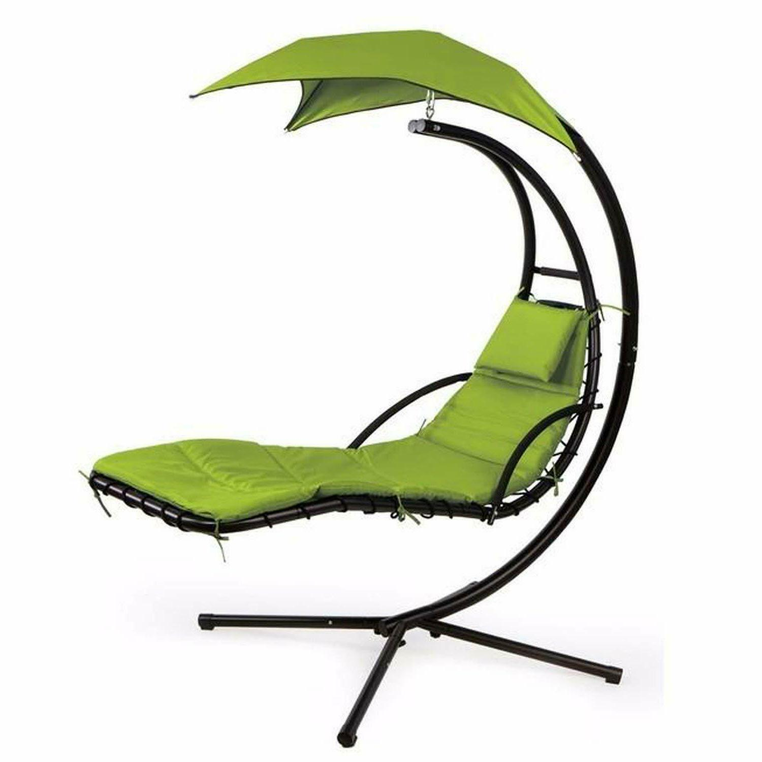 Hanging Chaise Lounger Arc Swing Chair