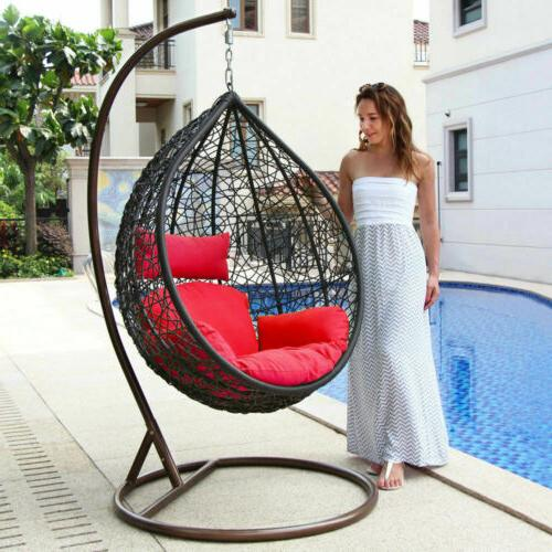 Hanging Porch Chair Free Outdoor Egg Chair Green Cushion