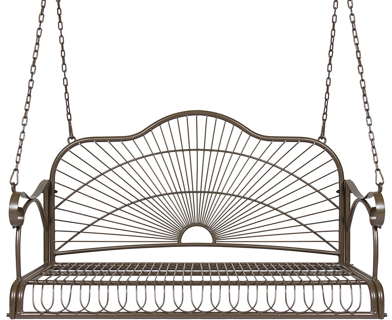 hanging porch iron swing set outdoor bench