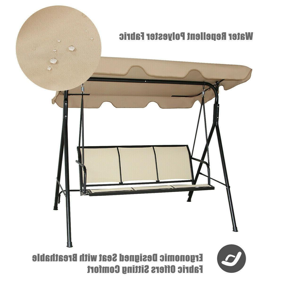 Outdoor Chair Lounge Seat Hammock Porch Beige