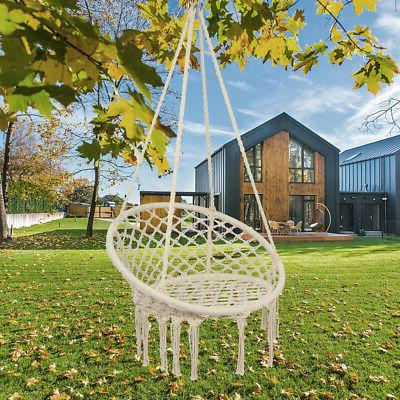 Hanging Rope Chair Hammock Outdoor Indoor Lot