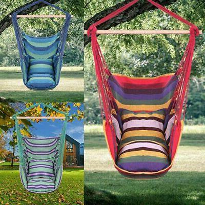 Hanging Rope Swing Yard Hammock Seat Lot