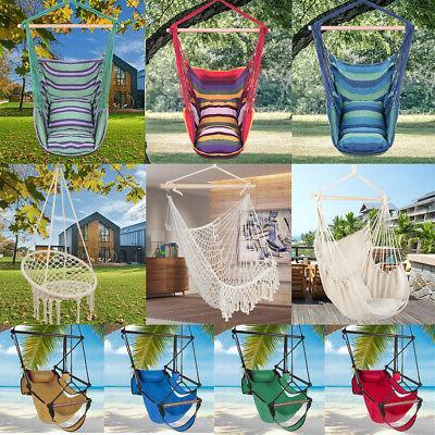 hanging rope chair porch swing yard garden