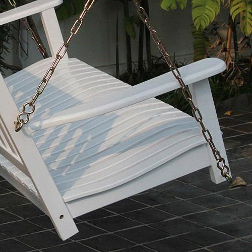 Delahey Wood Deck Patio Swing Furniture Chair Set 2 - White, Comfortable and Durable 1-year