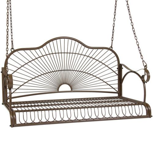 iron hanging patio porch swing with chain