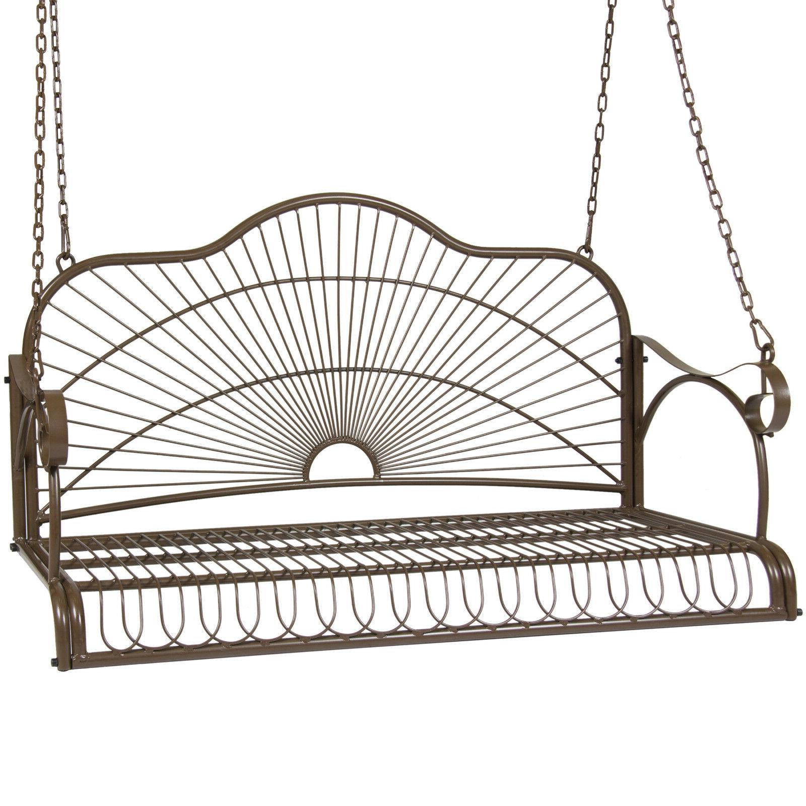 iron patio hanging porch swing chair bench
