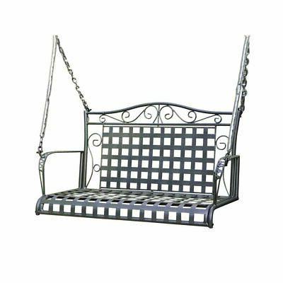 iron patio porch swing in antique black