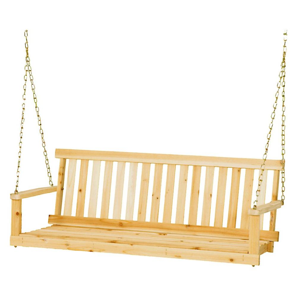 jack post classic porch swing natural finish
