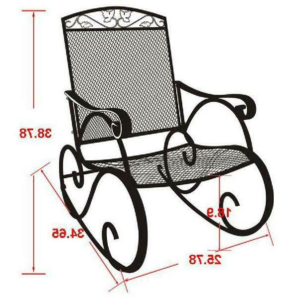 Mainstays Outdoor Wrought Iron Chair Extra-Wide