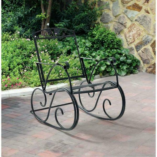 jefferson outdoor wrought iron porch rocking chair