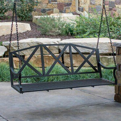 lawson x back porch swing black 5