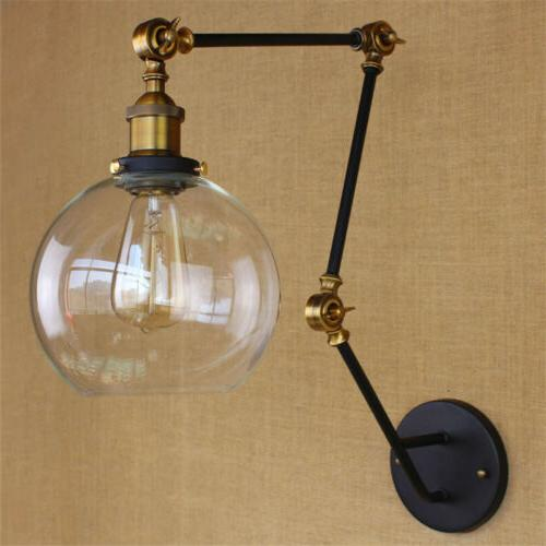 Long Arm Wall Sconce Clear Glass Light