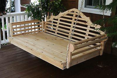Marlboro Foot Cedar Porch SWING Cedar* Oversized Swing