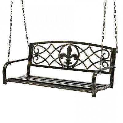 metal fleur de lis hanging patio porch