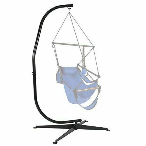 Metal Hanging Hammock C-Stand Porch Chair