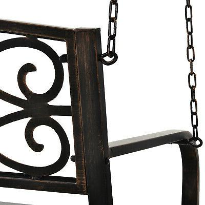 Outsunny Outdoor Porch Swing Garden Bench,
