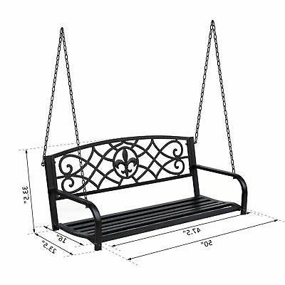 Metal Porch Swing Hanging Chair Design
