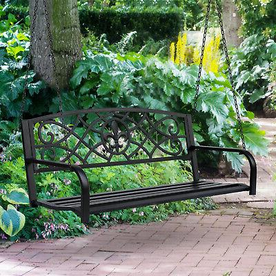 metal porch swing chair hanging bench chair
