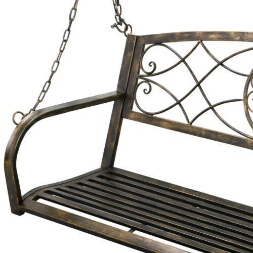 Iron Patio Swing Frame Deck Yard