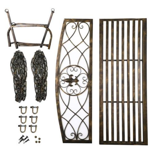 Metal Swing Patio Person Iron Chains