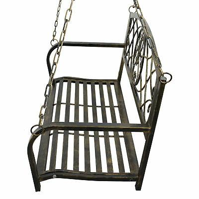 Porch Swing Hanging Furniture Iron Chains Outdoor Patio Metal Person