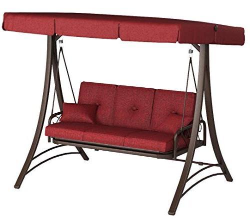 new callimont park 3 seat canopy porch