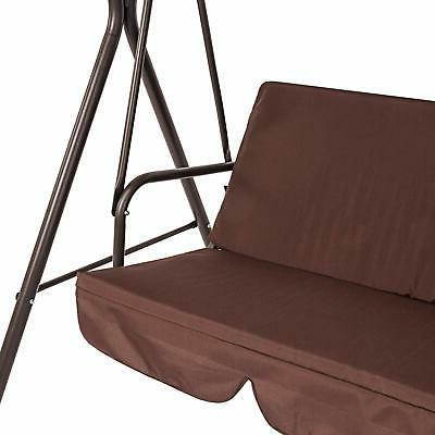 Outdoor Patio Porch Swing Hammock Bench Loveseat Color Brown