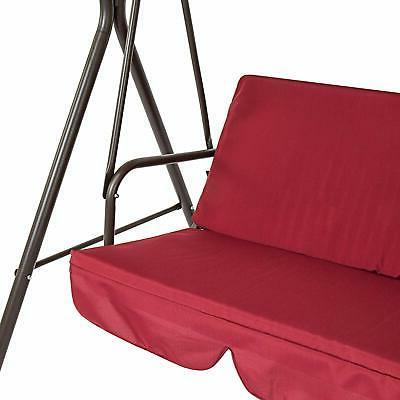 Outdoor Canopy Swing Double Red