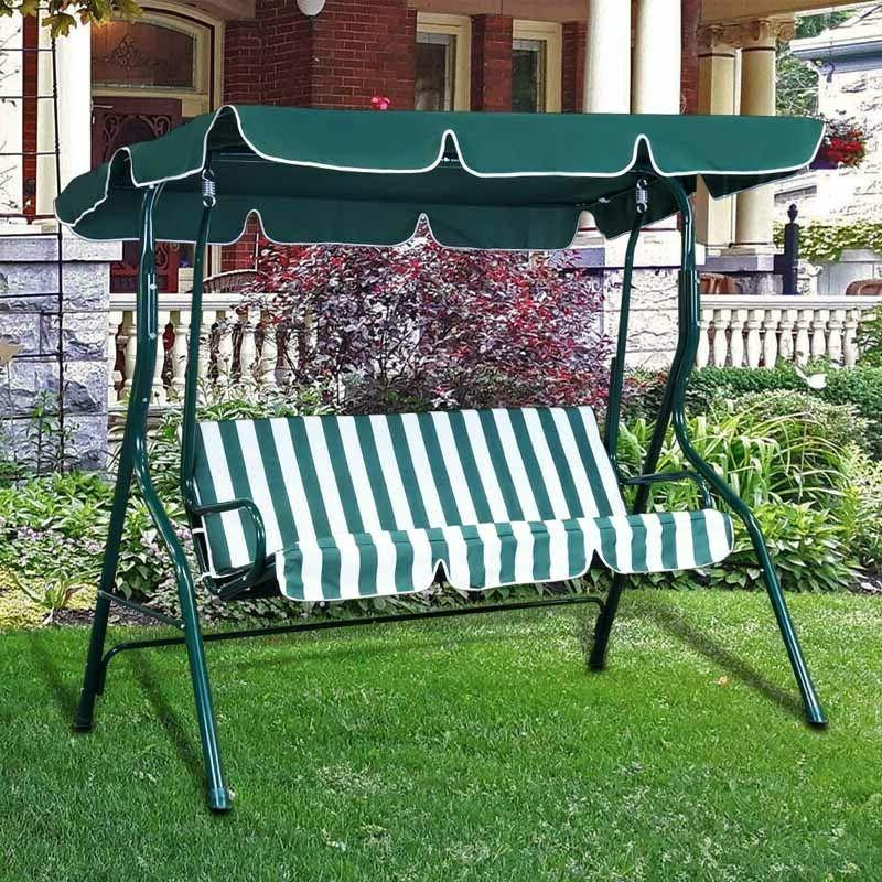 outdoor canopy swing chair 3 person patio