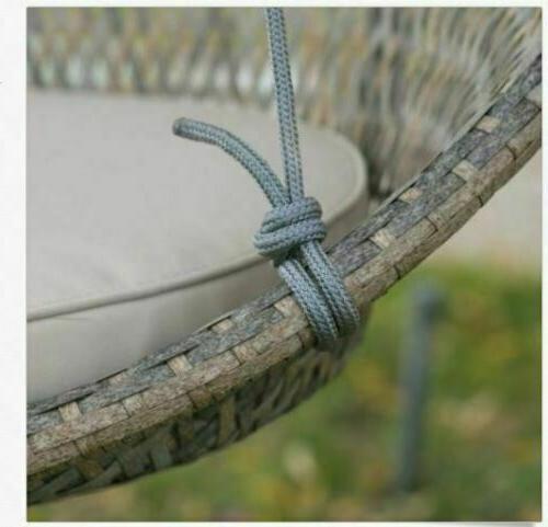Outdoor Hanging Round Swing Cushion Wicker Patio