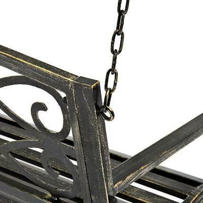 Outdoor Furniture Hanging Patio Porch Swing, Bronze