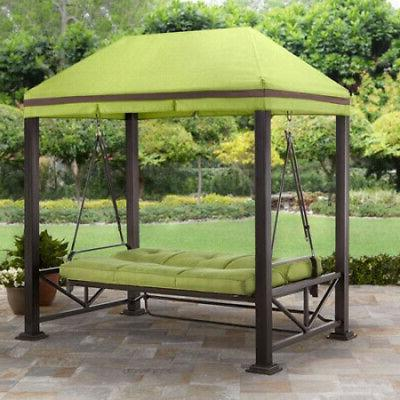 Outdoor Swing Lawn Deck 3-Person Canopy Best