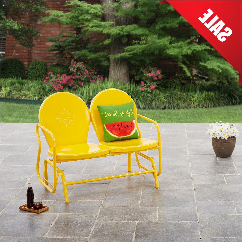 OUTDOOR GLIDER BENCH Porch Seat Bench Loveseat Patio Garden