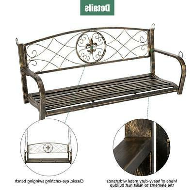 Bench Metal Fleur-De-Lis Porch