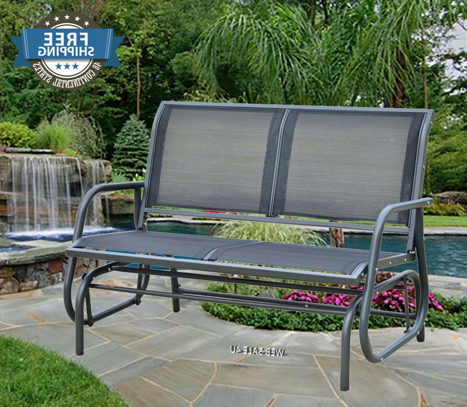 Outdoor Patio Glider Rocking Bench Loveseat Porch 2 Person S