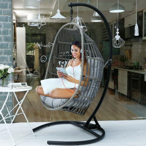 outdoor patio large size hanging egg swing