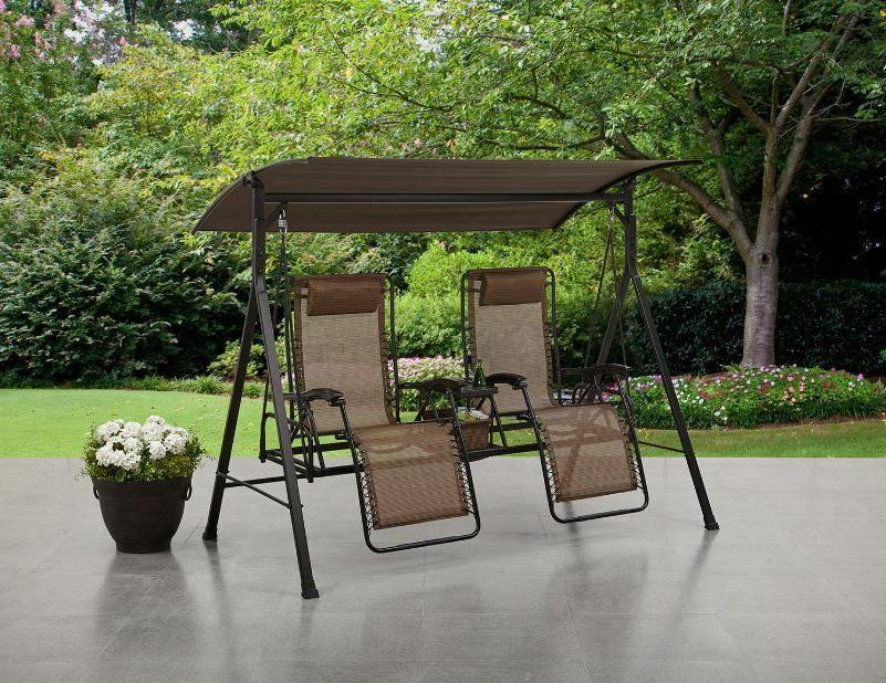 Outdoor Porch Gravity Reclining Canopy