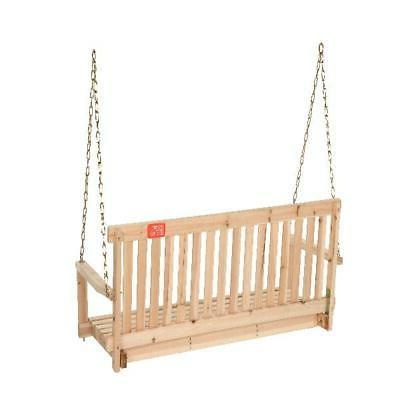 Outdoor Porch Wood Tree Chains ft Seating Furniture