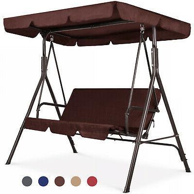 Outdoor Swing / Patio Adjustable Porch Chair w/