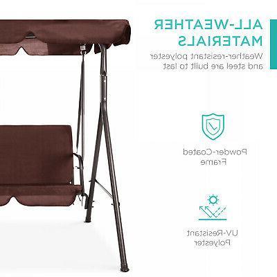 Outdoor Swing / Patio Adjustable Deck Porch Seat w/