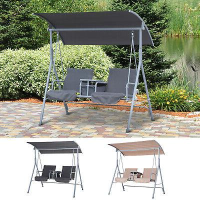outdoor swing chair canopy patio garden hanging